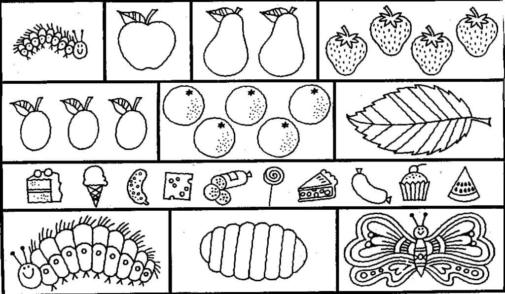 Hungry Caterpill Beautiful Very Hungry Caterpillar Coloring Pages