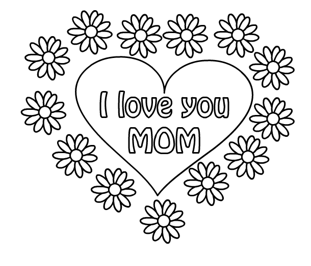 I Love You Mom Coloring Pages Zimeonme Cool Coloring Sheets