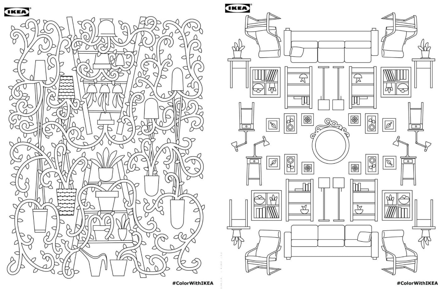 Download Ikea's Adult Coloring Book For Free!