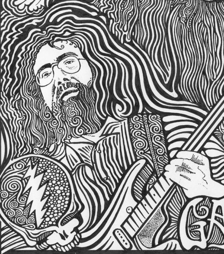 Grateful Dead Coloring Book With Pages Free Amazing