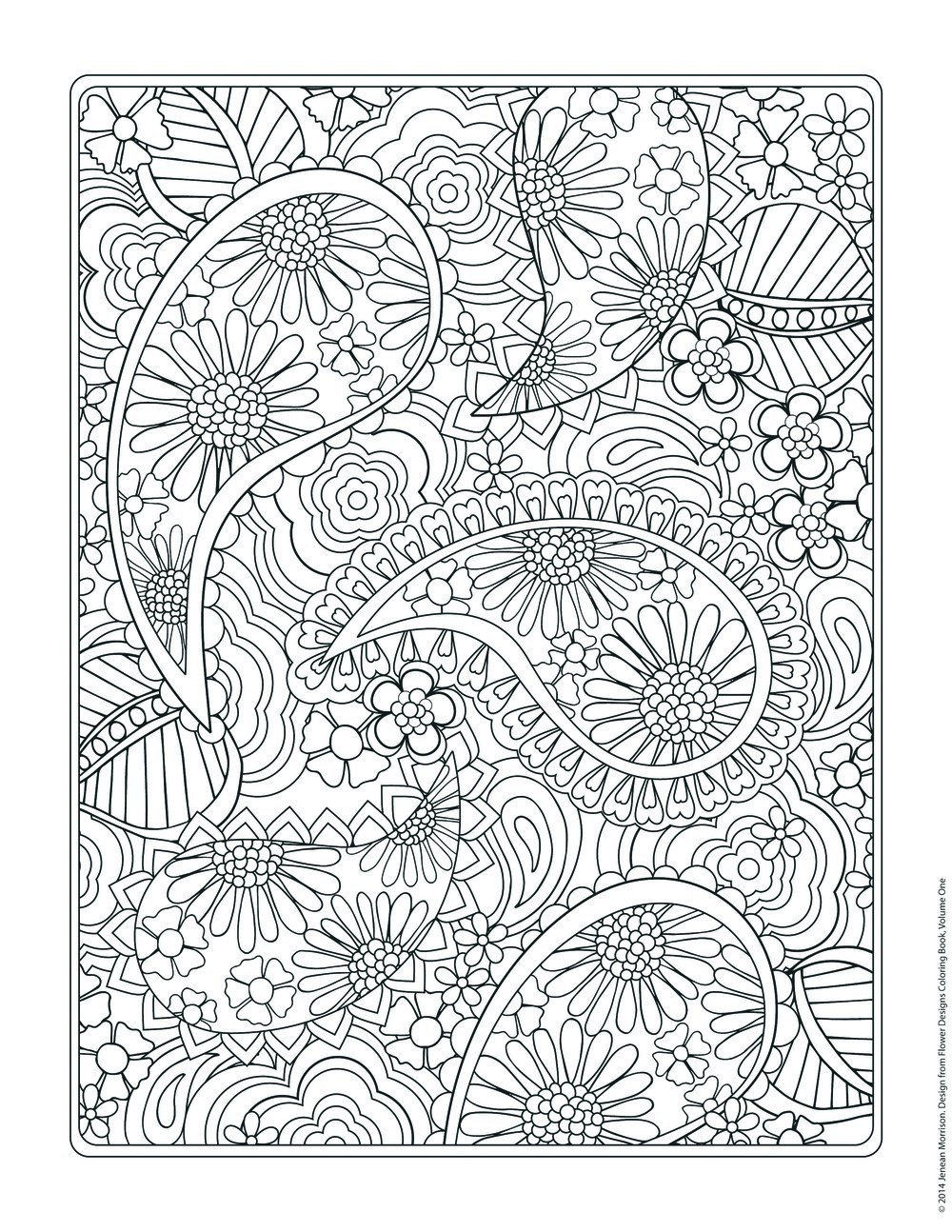 Impressive Coloring Pages Patterns And Designs Delighted Flower To