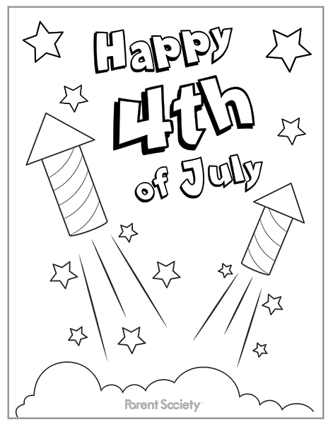 Impressive Fourth Of July Coloring Pages To Print Colouring In
