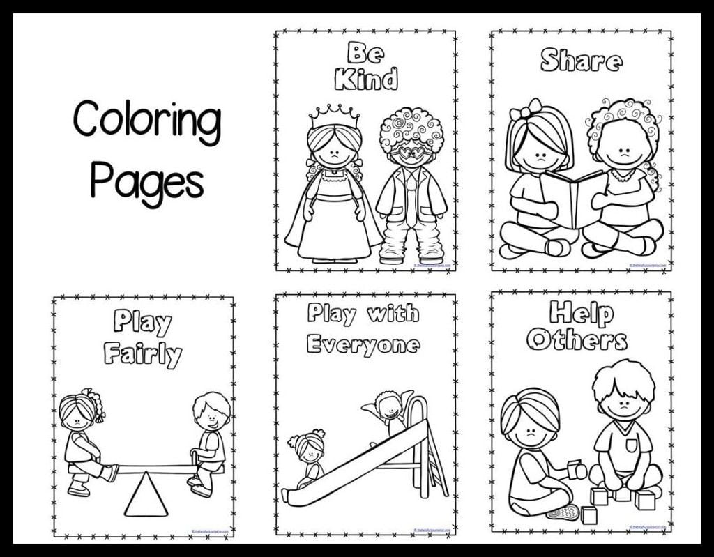 Inspiring Ideas Kindness Coloring Pages Respect Others Page Home