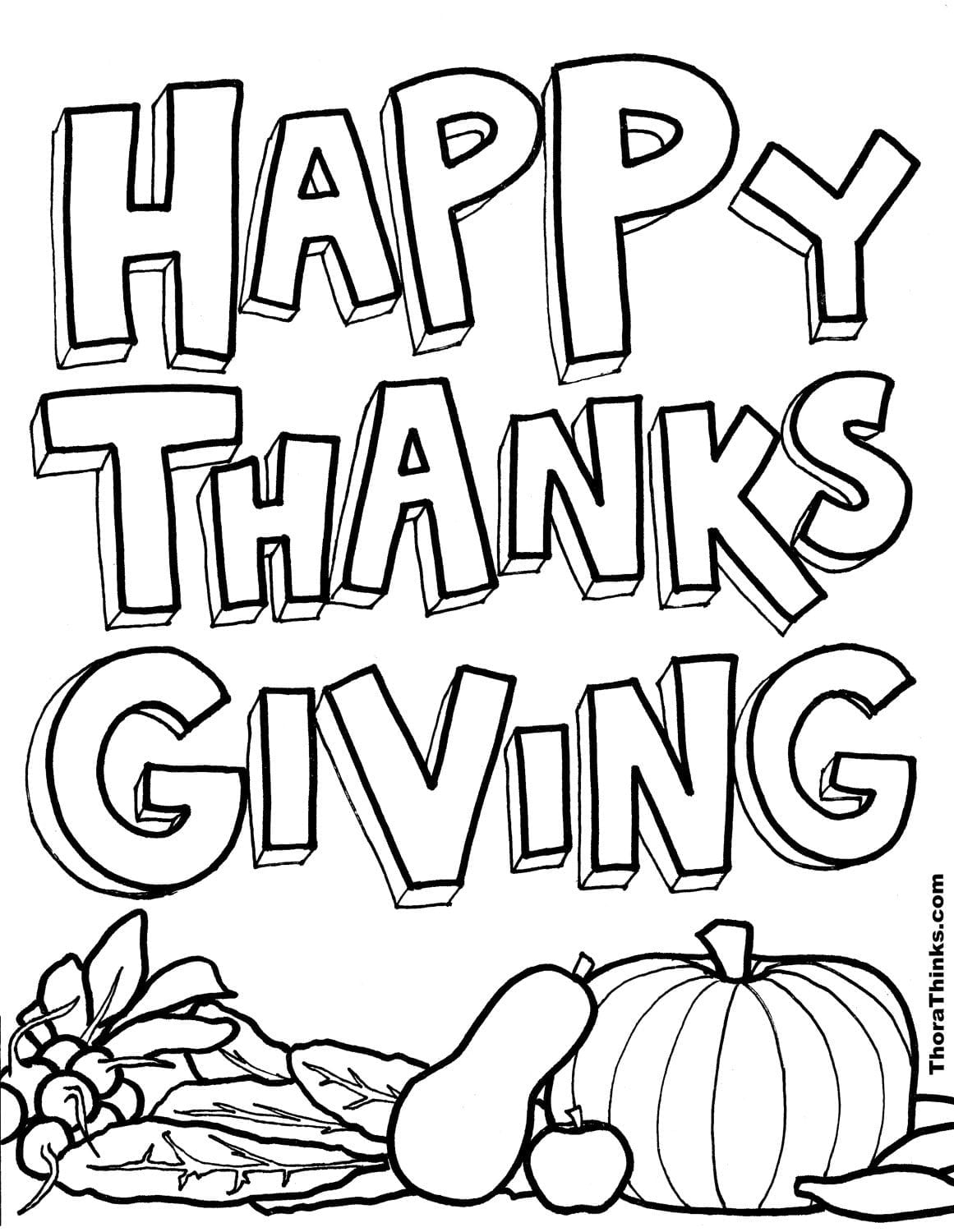 Thanks Giving Coloring Pages  5876