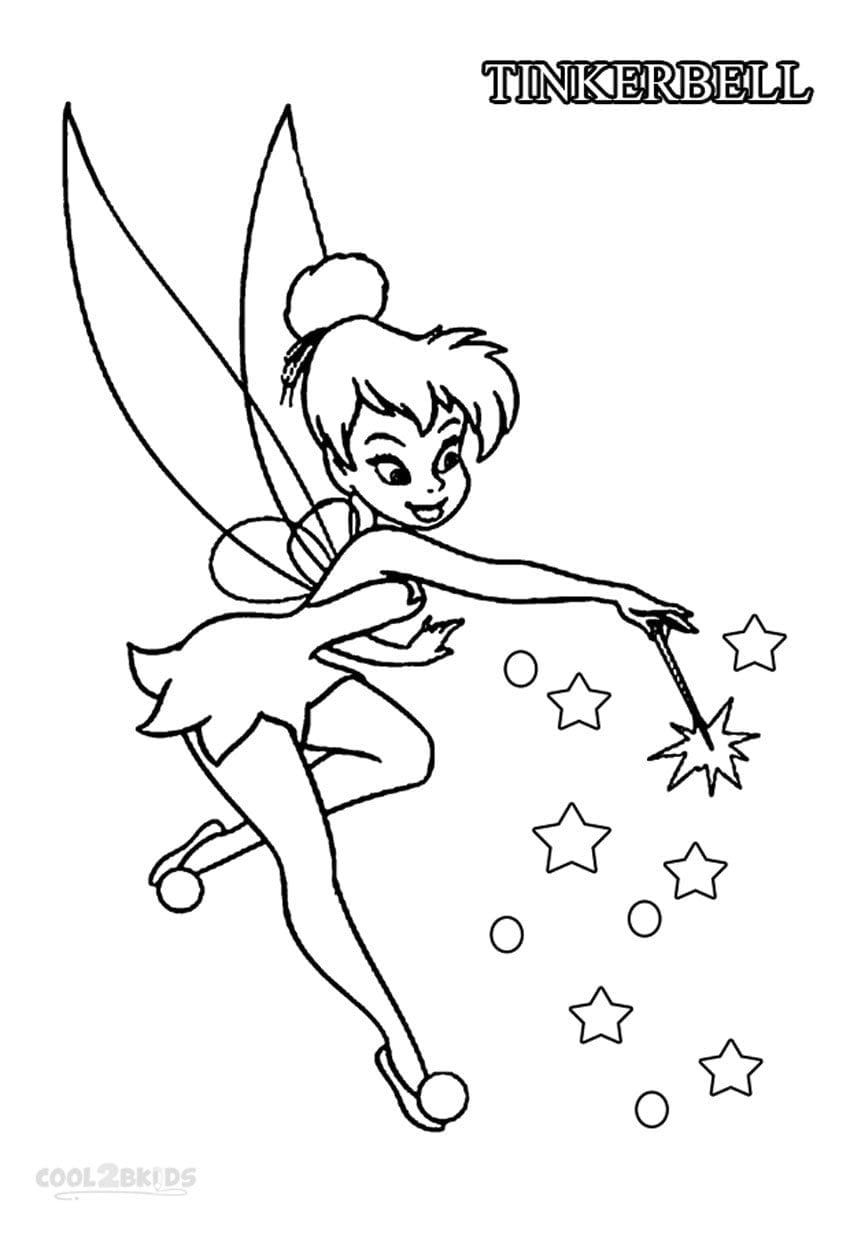 Interesting Adit In Tinkerbell Coloring Pages On With Hd