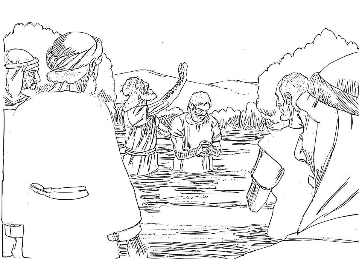 The Baptist Coloring Pages