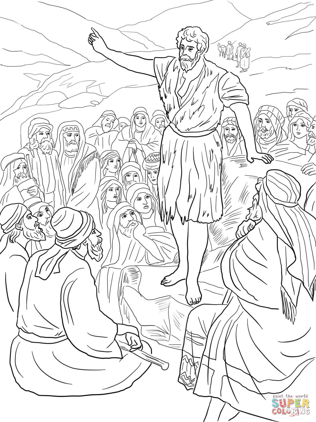 John The Baptist Coloring Pages Free Within Page