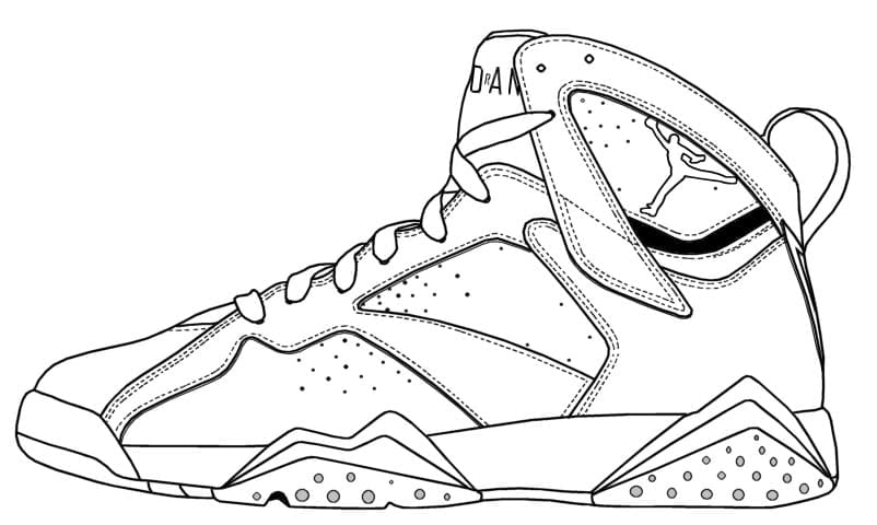 Comfortable Jordan Coloring Page Gallery