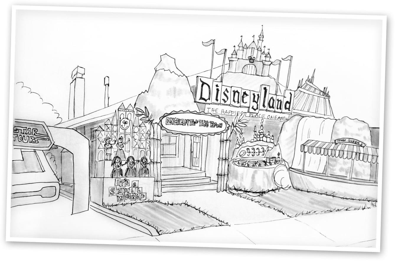 Just Arrived Disneyland Castle Coloring Pages 2489  1465