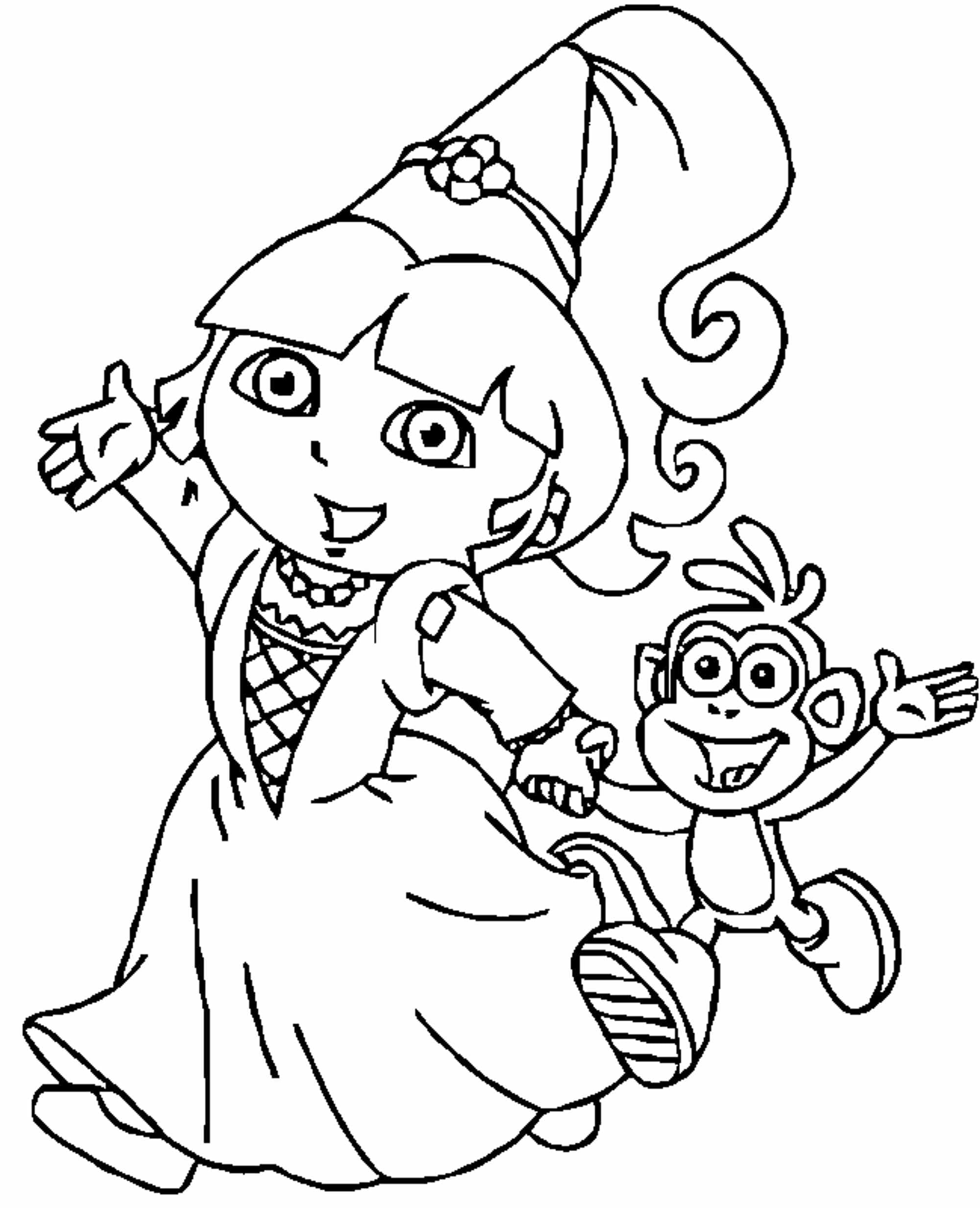 Just Arrived Dora Princess Printable Coloring Pages Simple With On