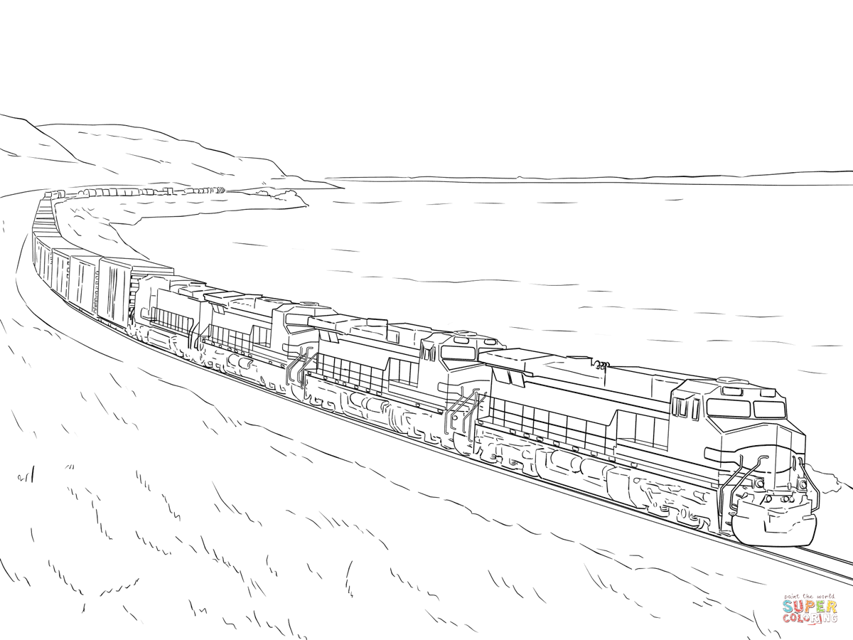 Just Arrived Train Colouring Sheets Freight Co  21609
