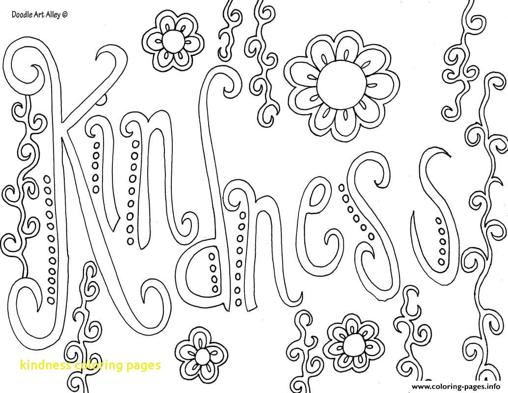 Kindness Coloring Pages Scatterwm