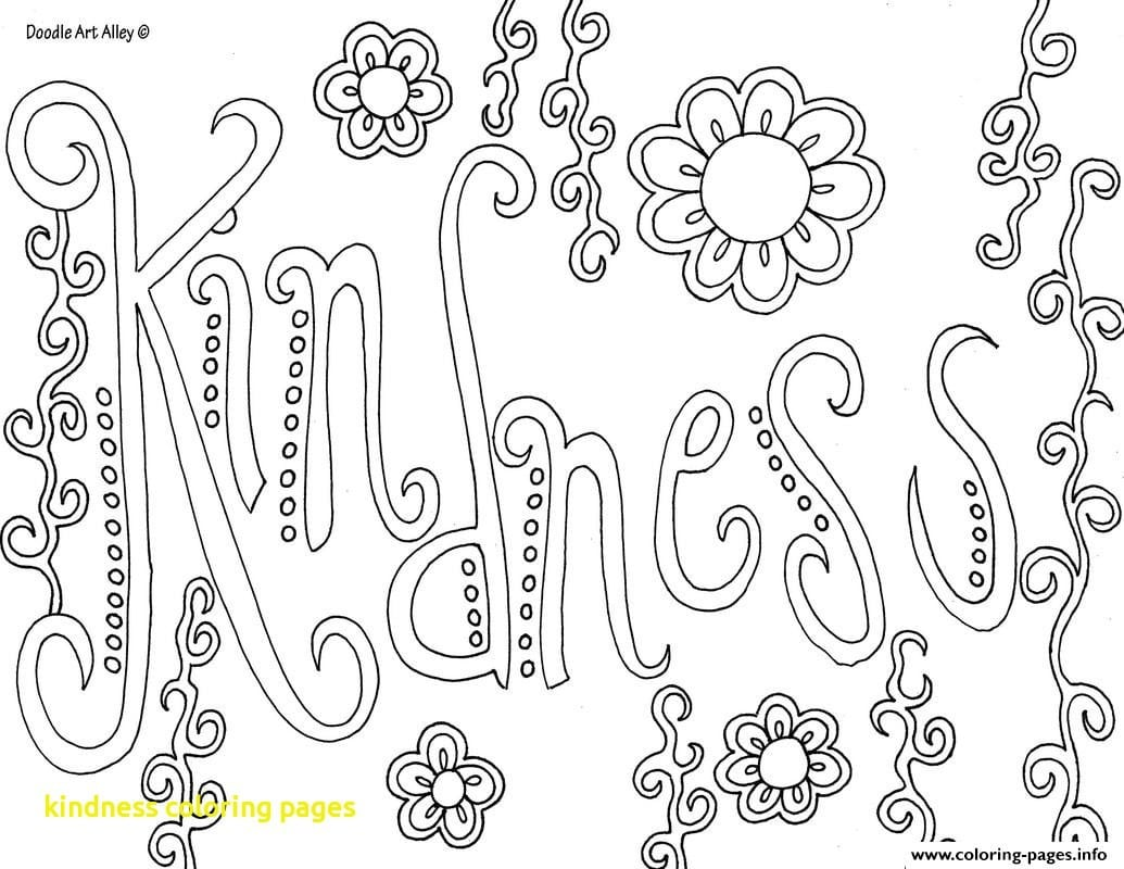 Kindness Coloring Pages With Kindness Coloring Pages With Word