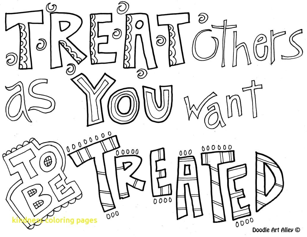 Kindness Coloring Pages With Quote Doodle New