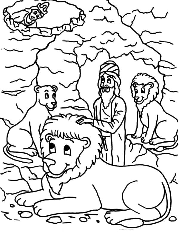 Daniel And The Lions Den Coloring Pages Pleasing Daniel In The