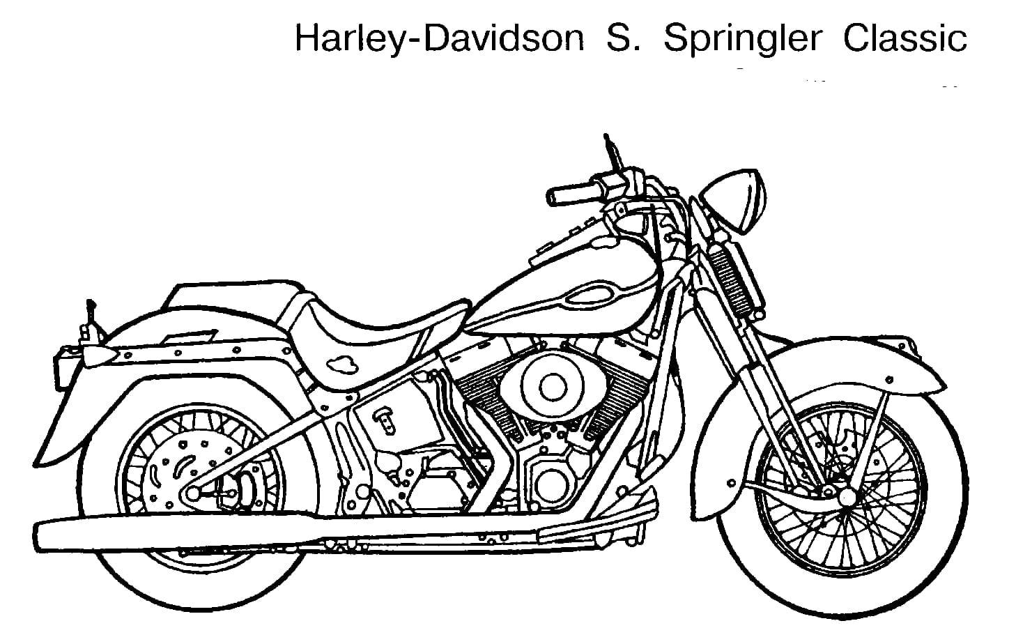 Limited Printable Harley Davidson Coloring Pag  13584