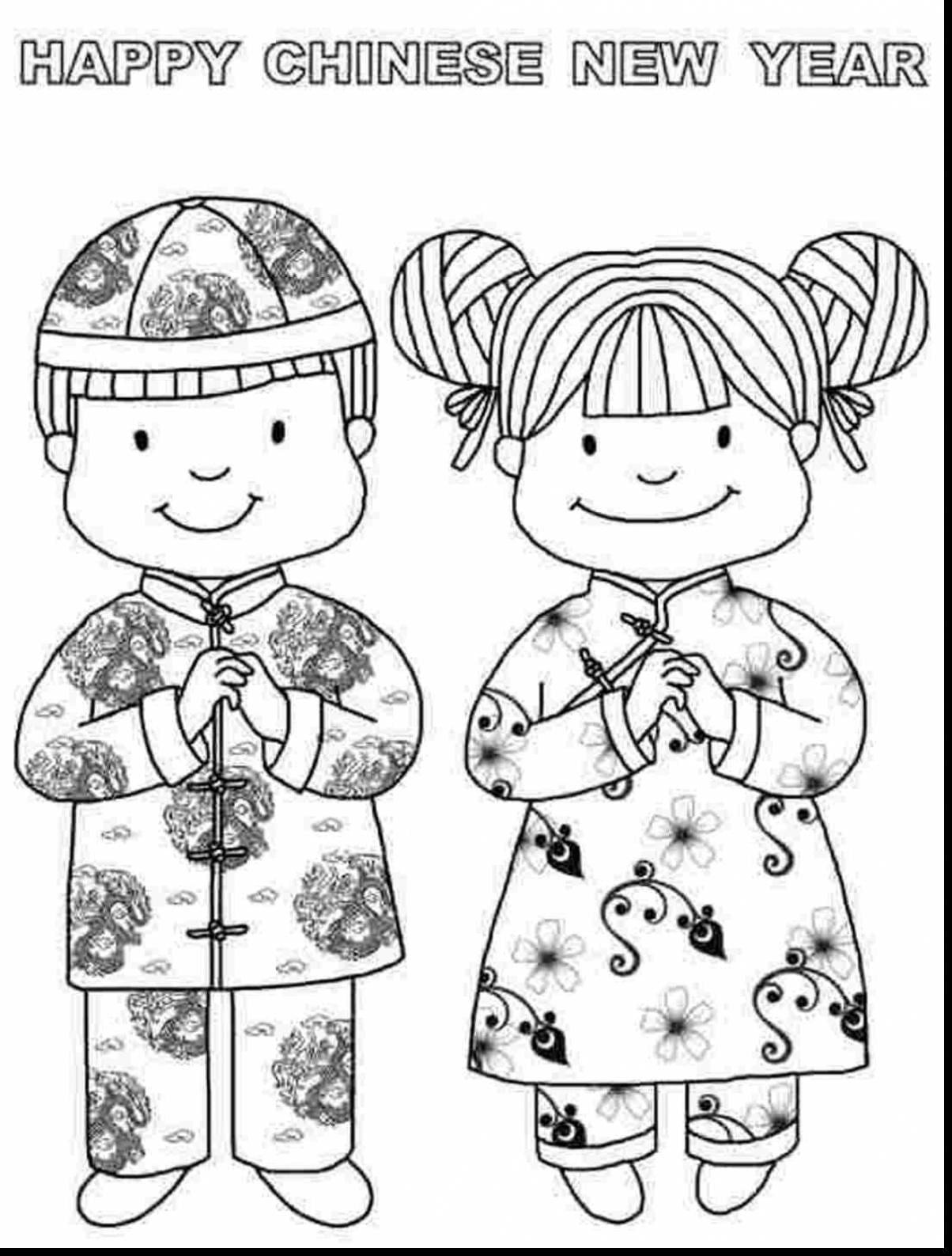 Launching Chinese New Year Coloring Pages 2014 Amazing