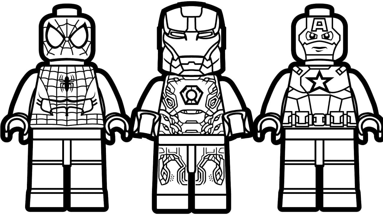 Lego Spiderman Coloring Pages 6  4217