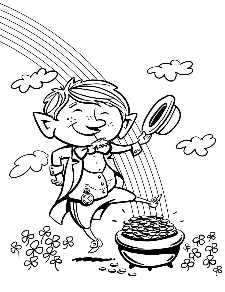 Leprechaun Coloring Pages Best Coloring Pages For Kids Leprechaun