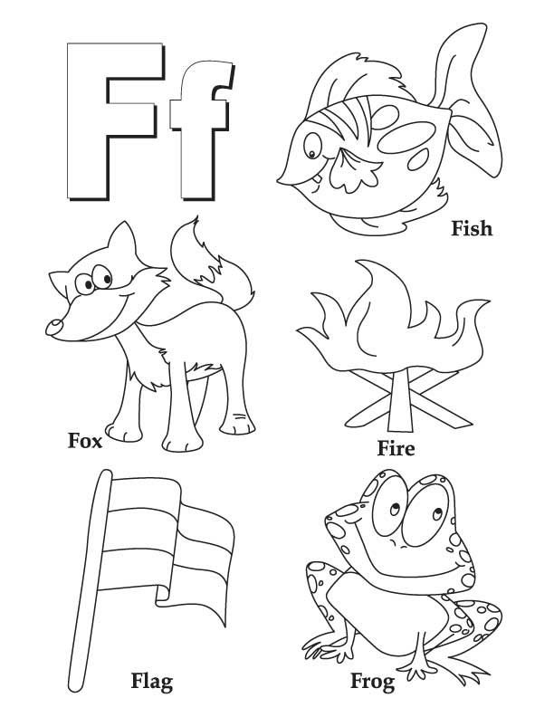 Letter F Coloring Pages For Toddlers F Is For Friendly Frog
