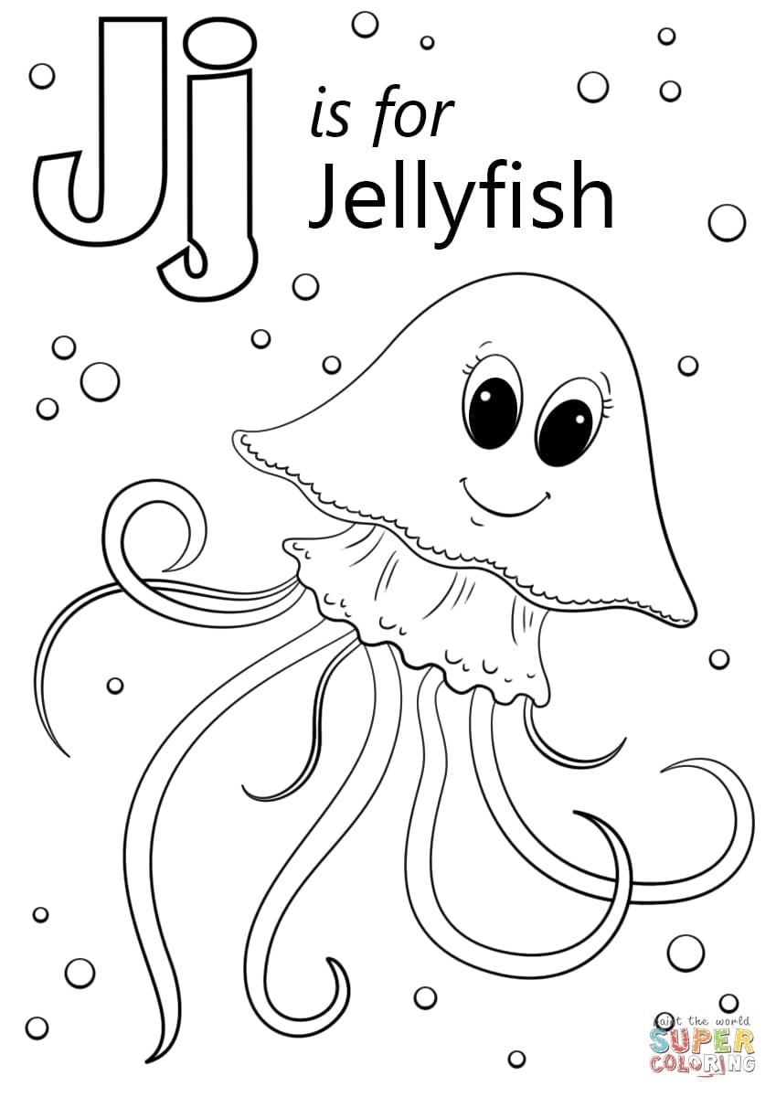 Letter J Coloring Page Printable Pages Throughout
