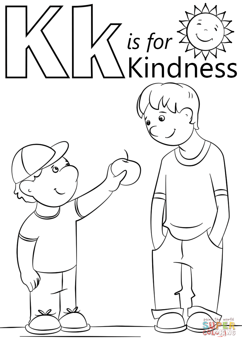 Letter K Is For Kindness Coloring Page Free Printable Pages At