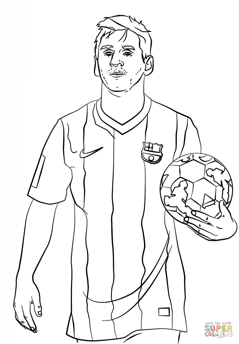 Lionel Messi Coloring Page