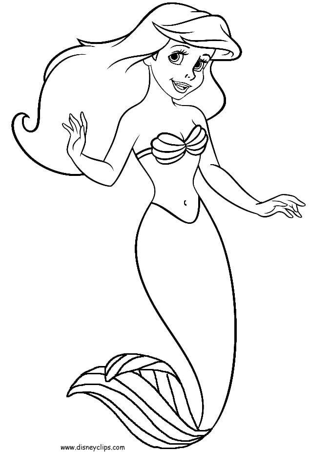 Little Mermaid Coloring Vintage Little Mermaid Coloring Book