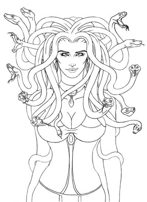 Beautiful Picture Of Medusa Coloring Page Pages For New