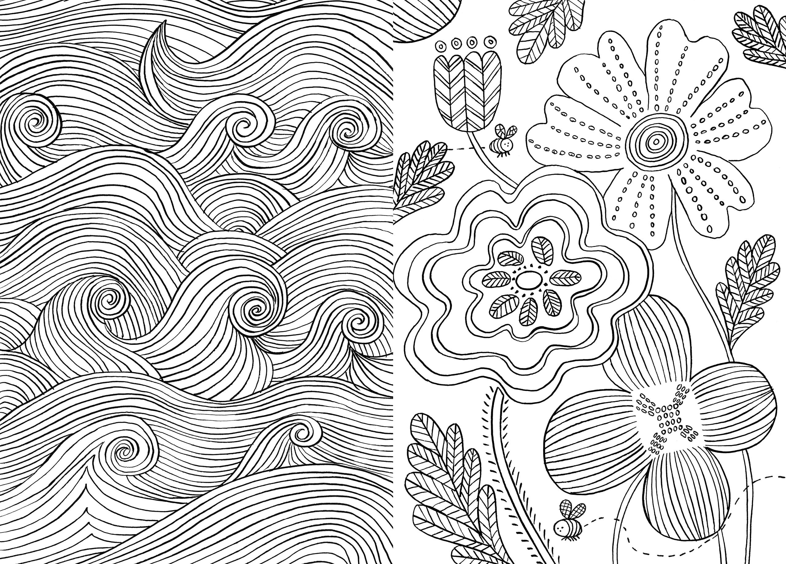 Lovely Pattern Coloring Books