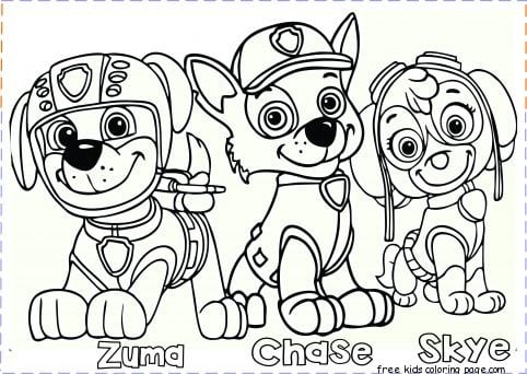 Magnificent Ideas Printable Paw Patrol Coloring Pages Free Paw