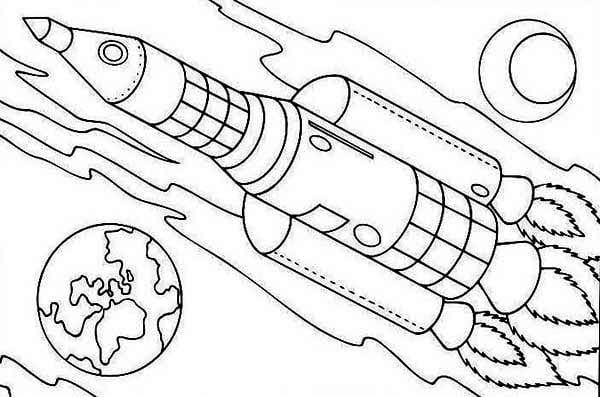 Rocket Ship Coloring Page - NEO Coloring