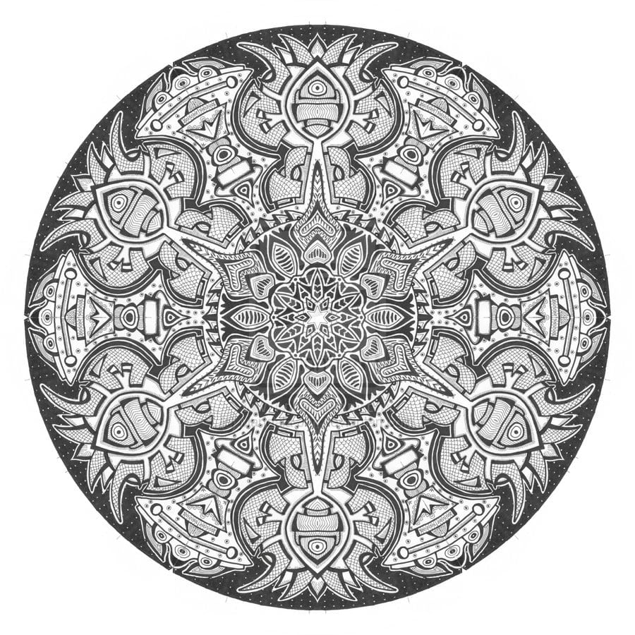 Mandala Coloring Pages Advanced Level Printable
