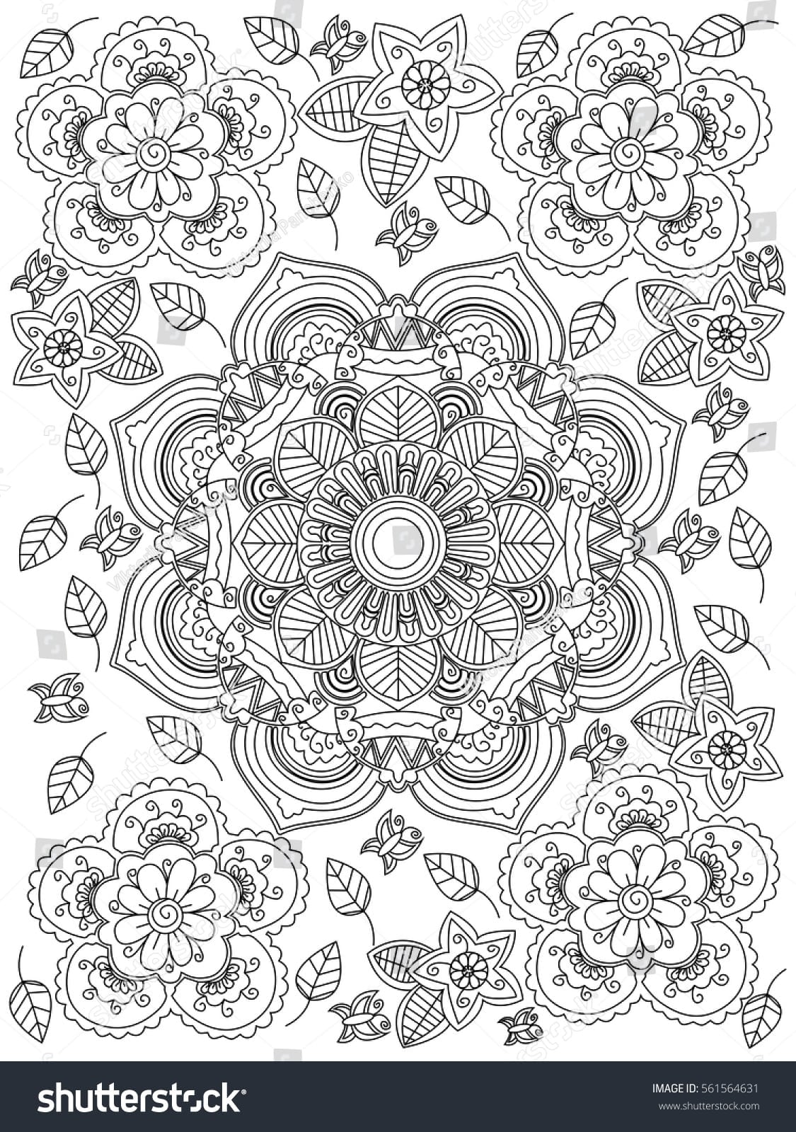 Flowers Coloring Book Page For Lovely Flower Coloring Books For