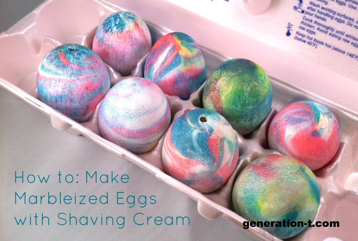 Dye Easter Eggs With Shaving Cream Â« Generation T