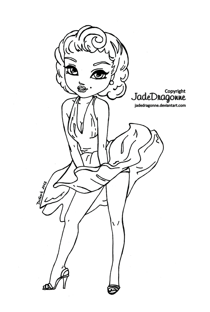 Marilyn Monroe Coloring Pages With Wallpapers Full Hd Marilyn