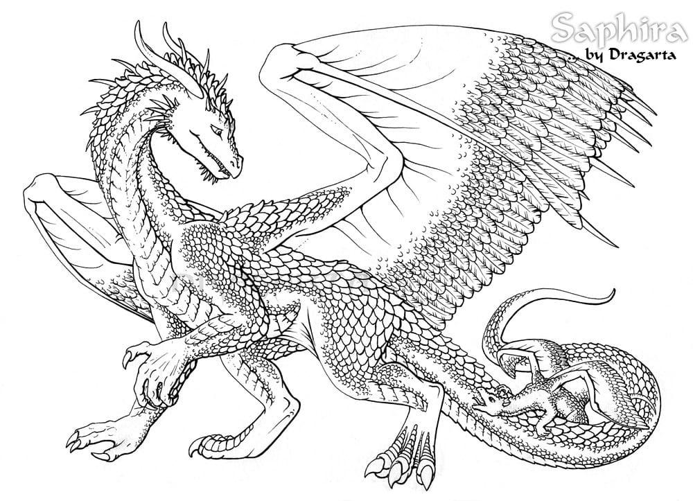 Good Looking Dragon Coloring Sheet Coloring In Humorous Dragon