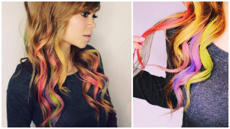How To Color Your Hair With Eyeshadow   Rainbow Loom Hair