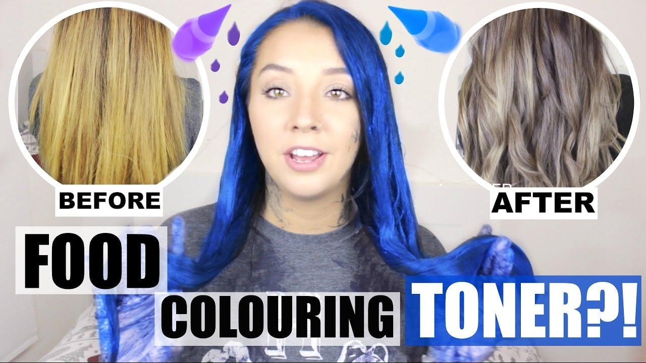 Food Colouring Hair Toner! Does It Work