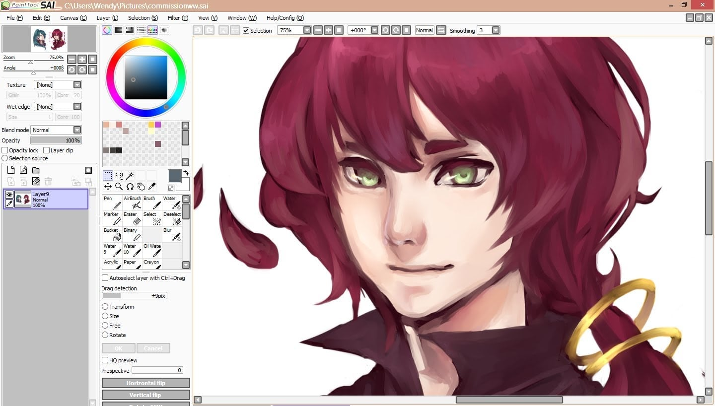 How I Color On Paint Tool Sai (voiceover Tutorial)