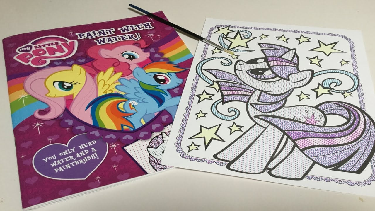 Let's Color Twilight Sparkle! Paint With Water Coloring My Little