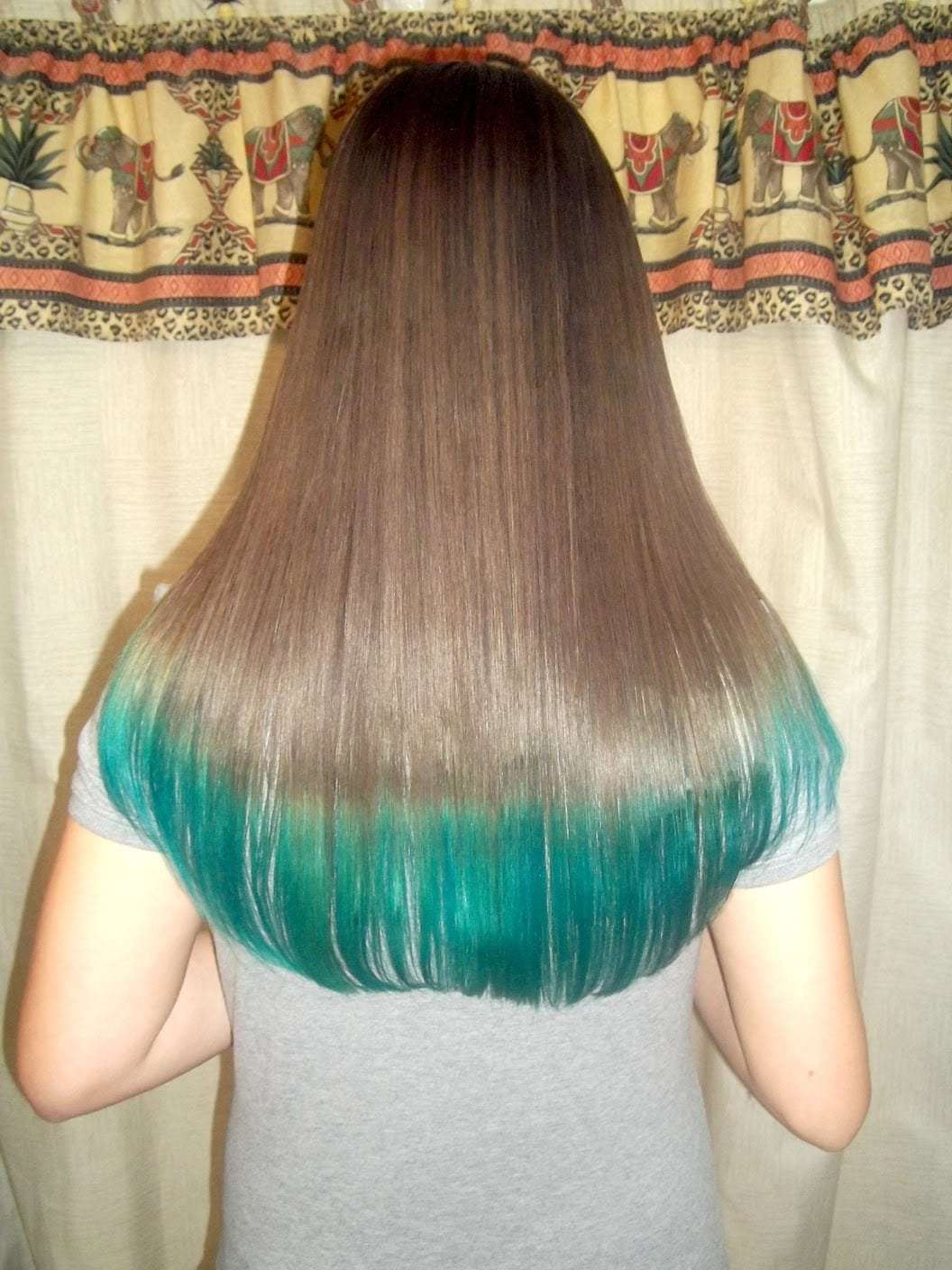 How To Dye Your Hair Tips Teal Turquoise