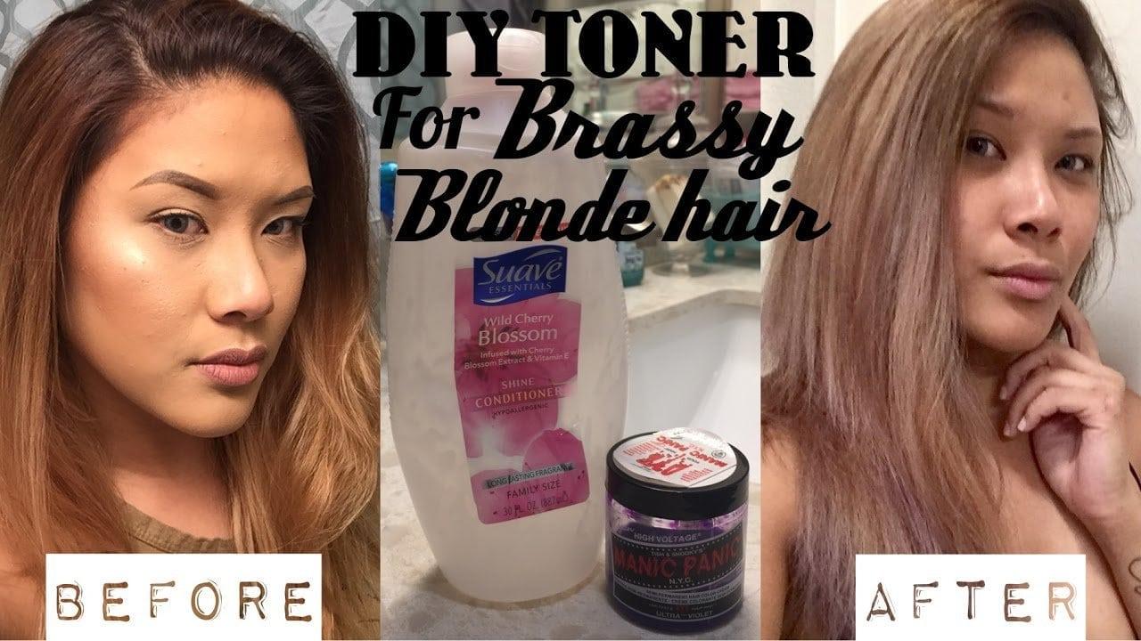 Diy Hair Toner For Brassy Blonde Hair (demo)