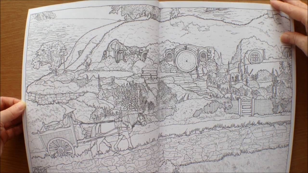 The Lord Of The Rings Movie Trilogy Colouring Book Flipthrough