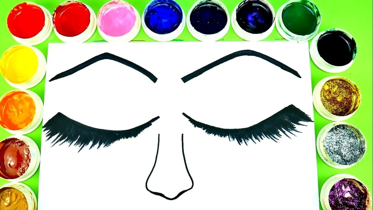 Coloring Eyes Make Up Beautiful Eyeshadow Coloring Pages For Kids