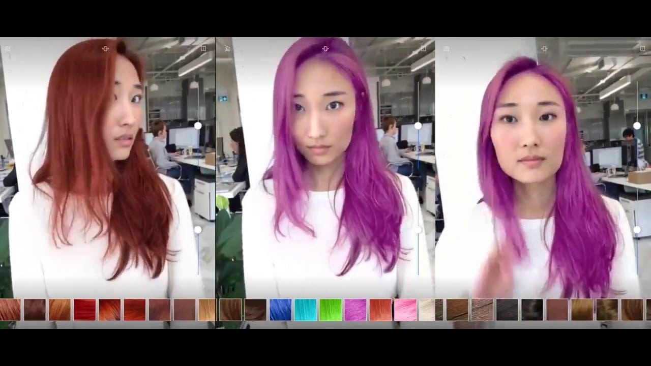 Modiface Augmented Reality Hair Coloration Demo