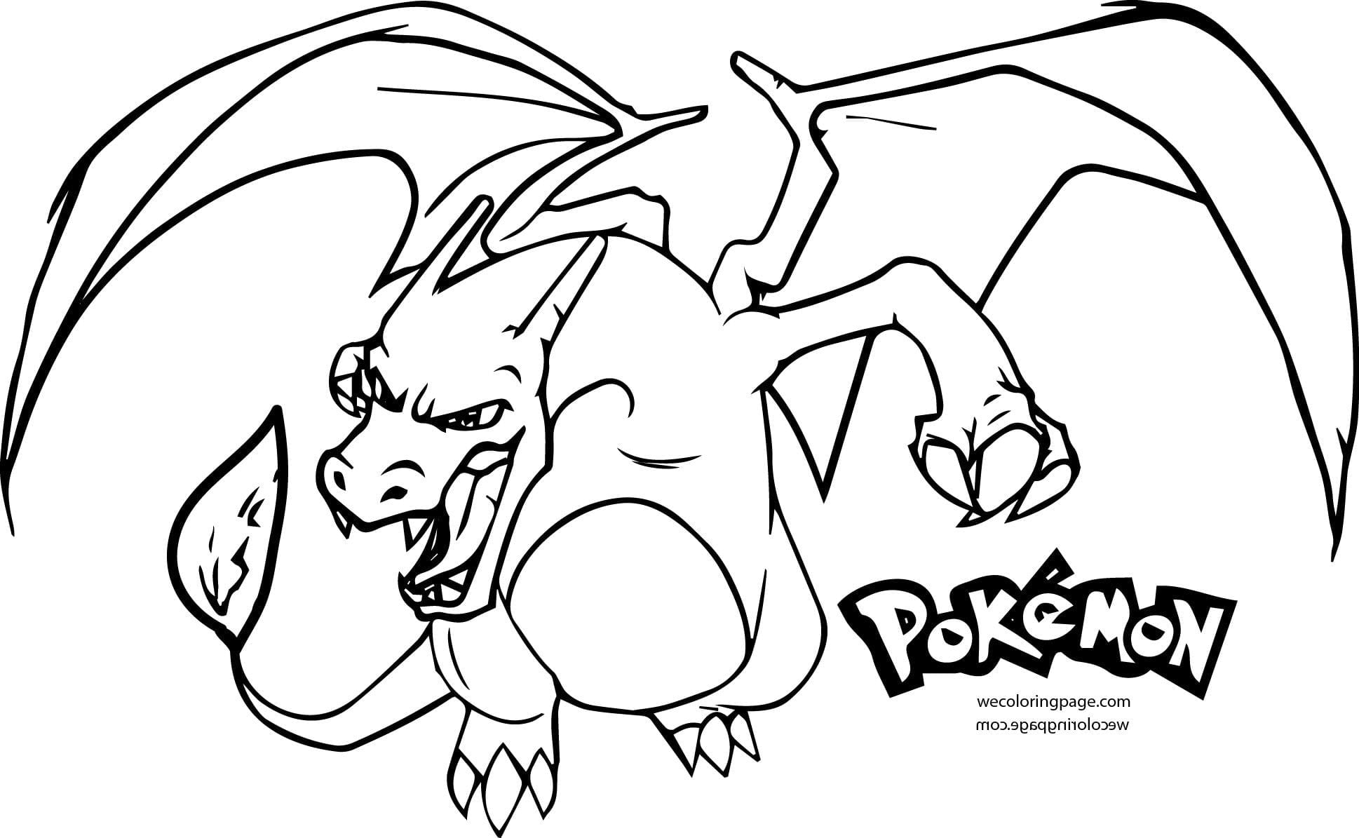 Mega Charizard Coloring Page Pages To Print Of Pokemon Throughout