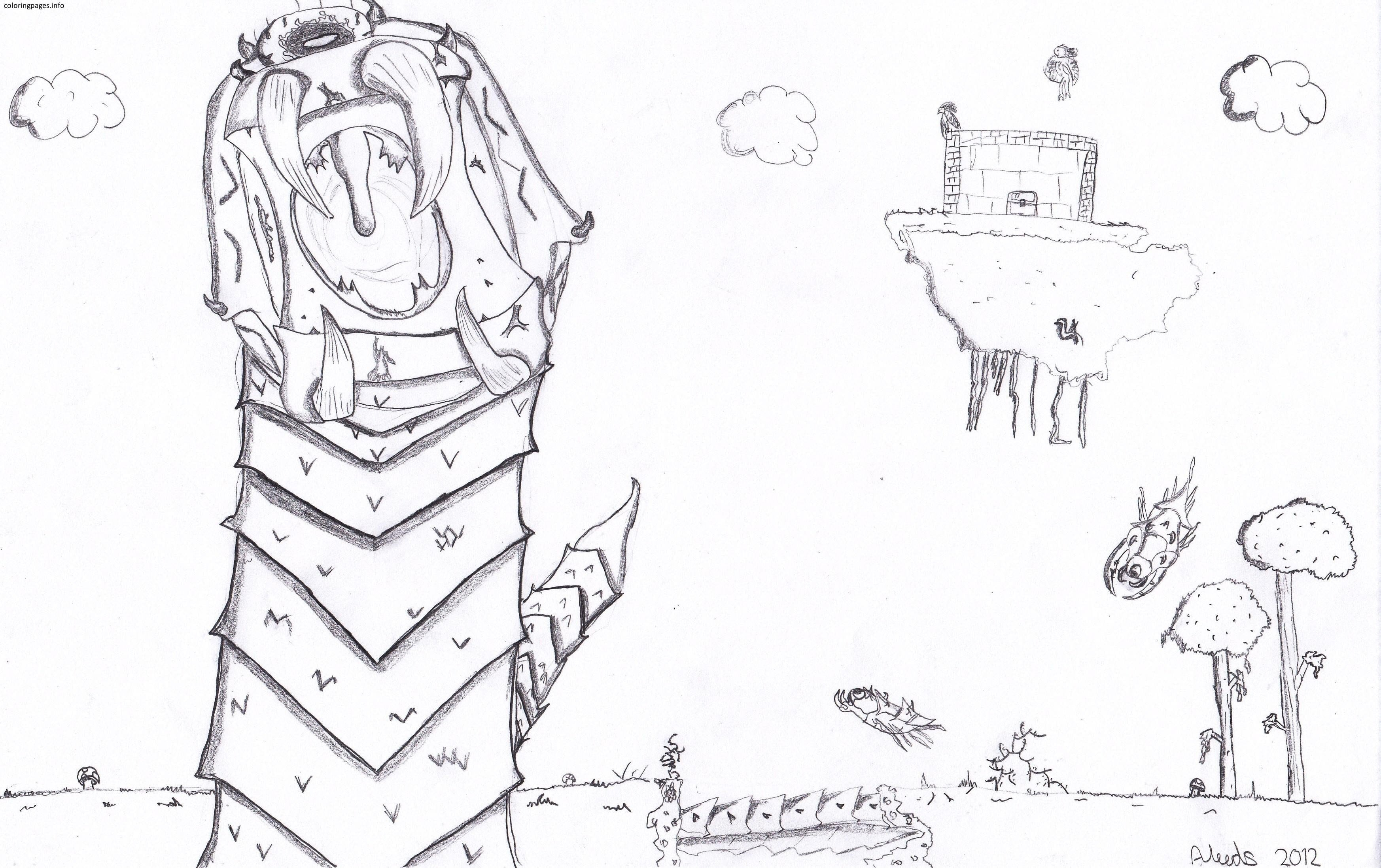 Best Terraria Coloring Pages Coloring For Amusing Terraria