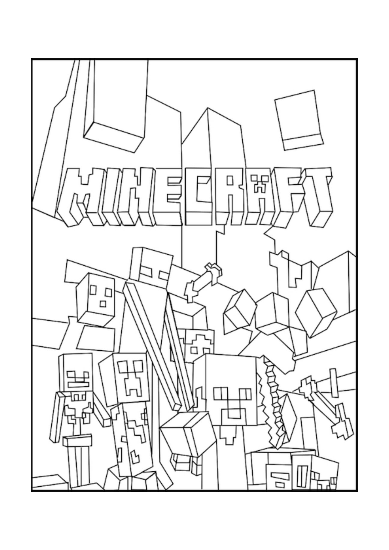 Minecraft Coloring Pages Crafty Design Ideas With Free