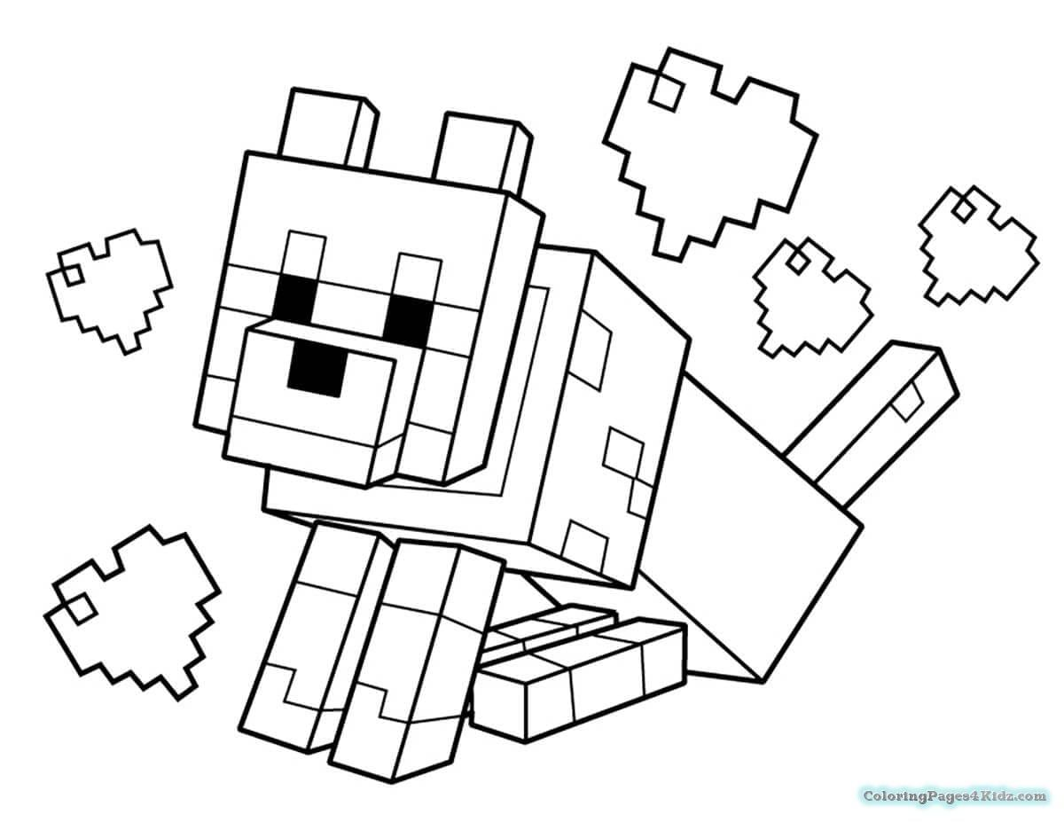 Minecraft Coloring Pages For Kids Coloring Pages For Kids